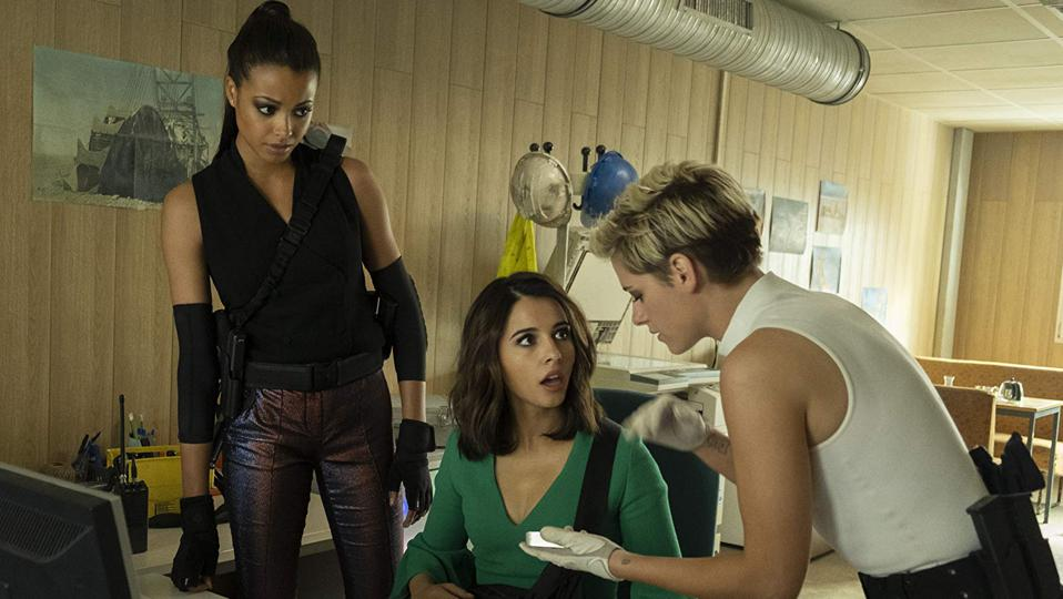 Ella Balinska, Naomi Scott and Kristen Stewart in Elizabeth Banks' 'Charlie's Angels'