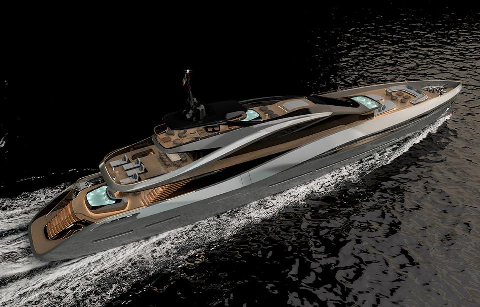 Pininfarina and Rossinavi have teamed to create this 213-foot-long SuperSport 65 Superyacht.