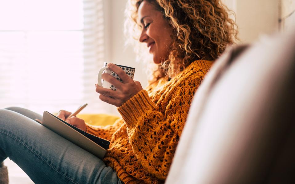 Woman journalling