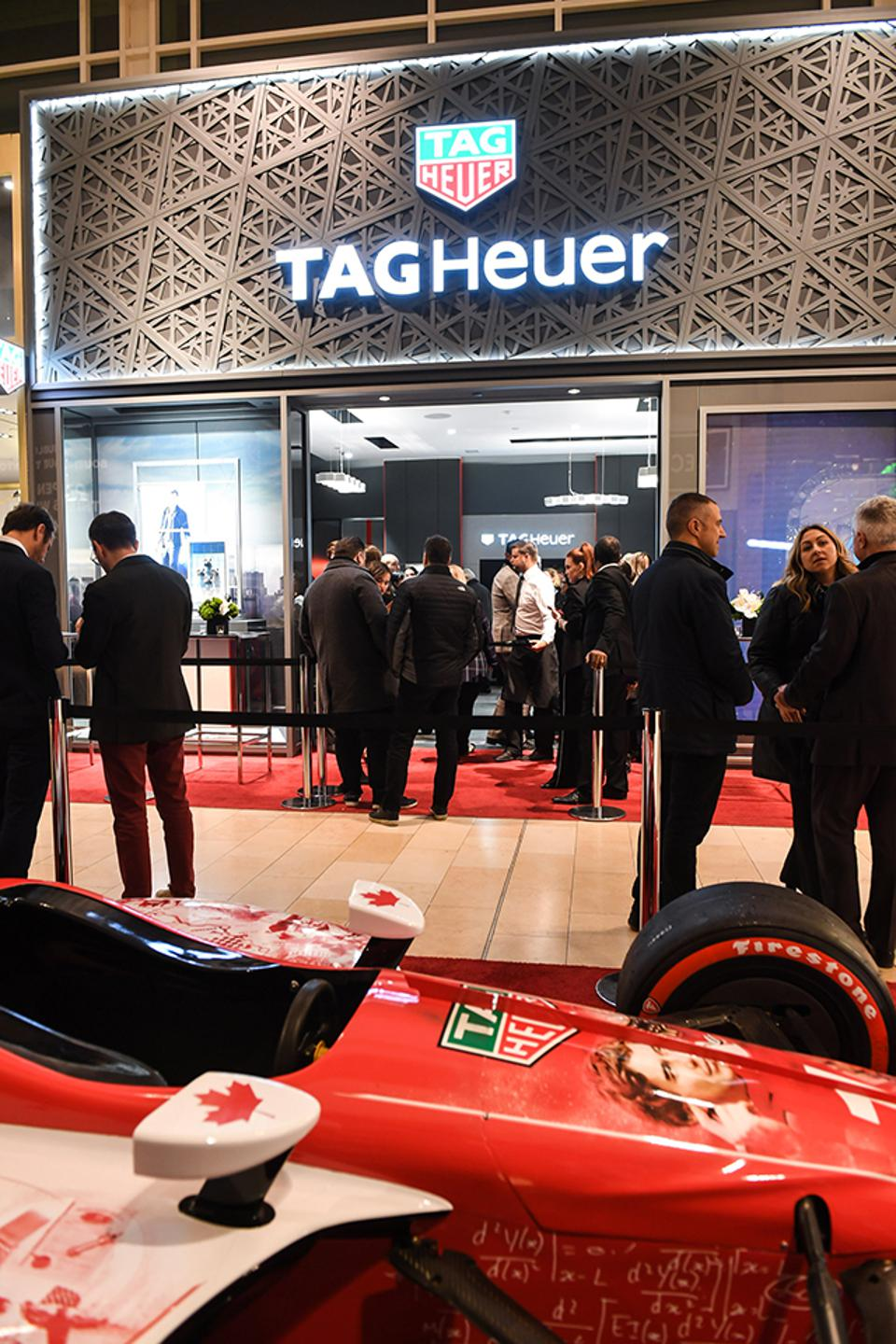 TAG Heuer opened its first Canadian boutique at Yorkdale Shopping Centre last night in Toronto.