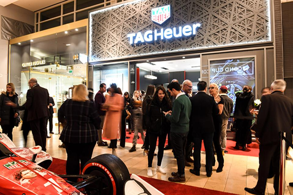 TAG Heuer opened its first Canadian boutique last night at Yorkdale Shopping Centre in Toronto.