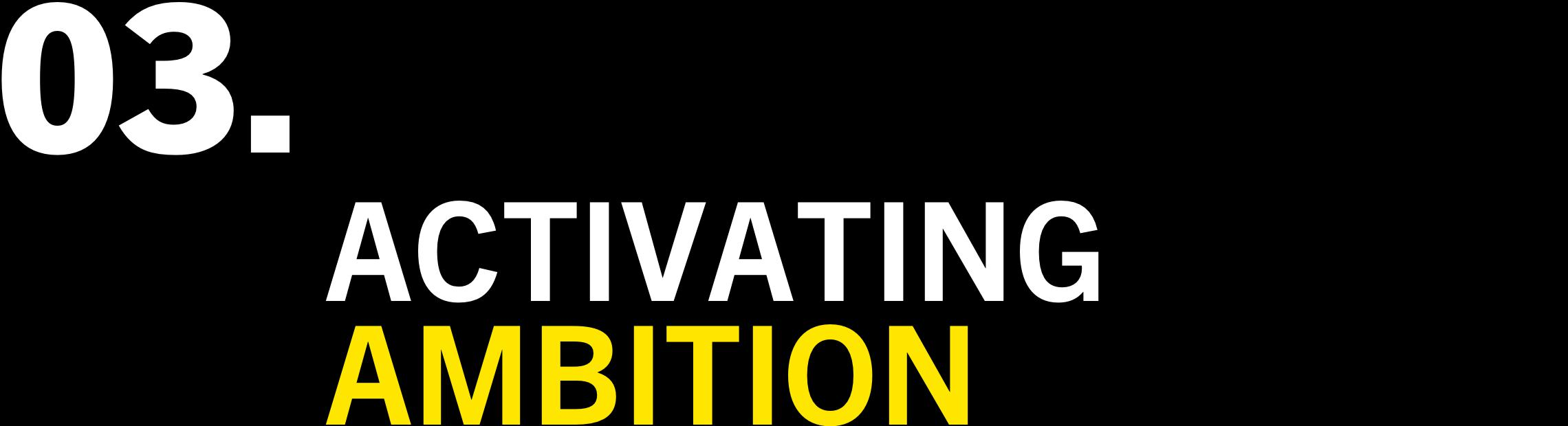 3. ACTIVATING AMBITION