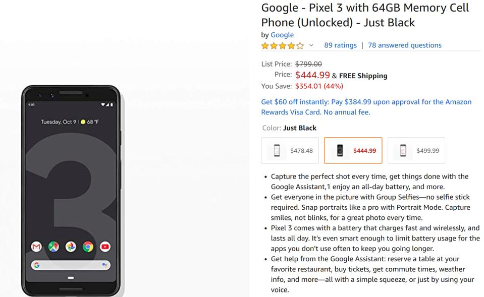 Amazon Black Friday deals, Google Pixel deals, Pixel 3 sale, Pixel 3 XL sale,