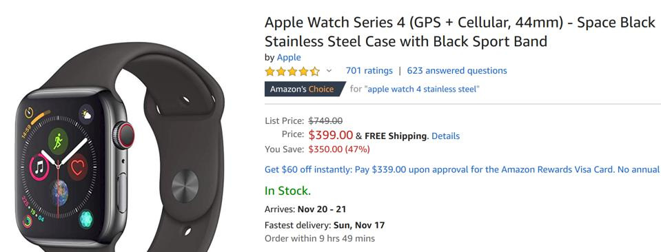 Amazon Black Friday sales, Amazon Black Friday smartwatch sales, Amazon Black Friday Apple Watch sales, Black Friday Apple Watch deals,