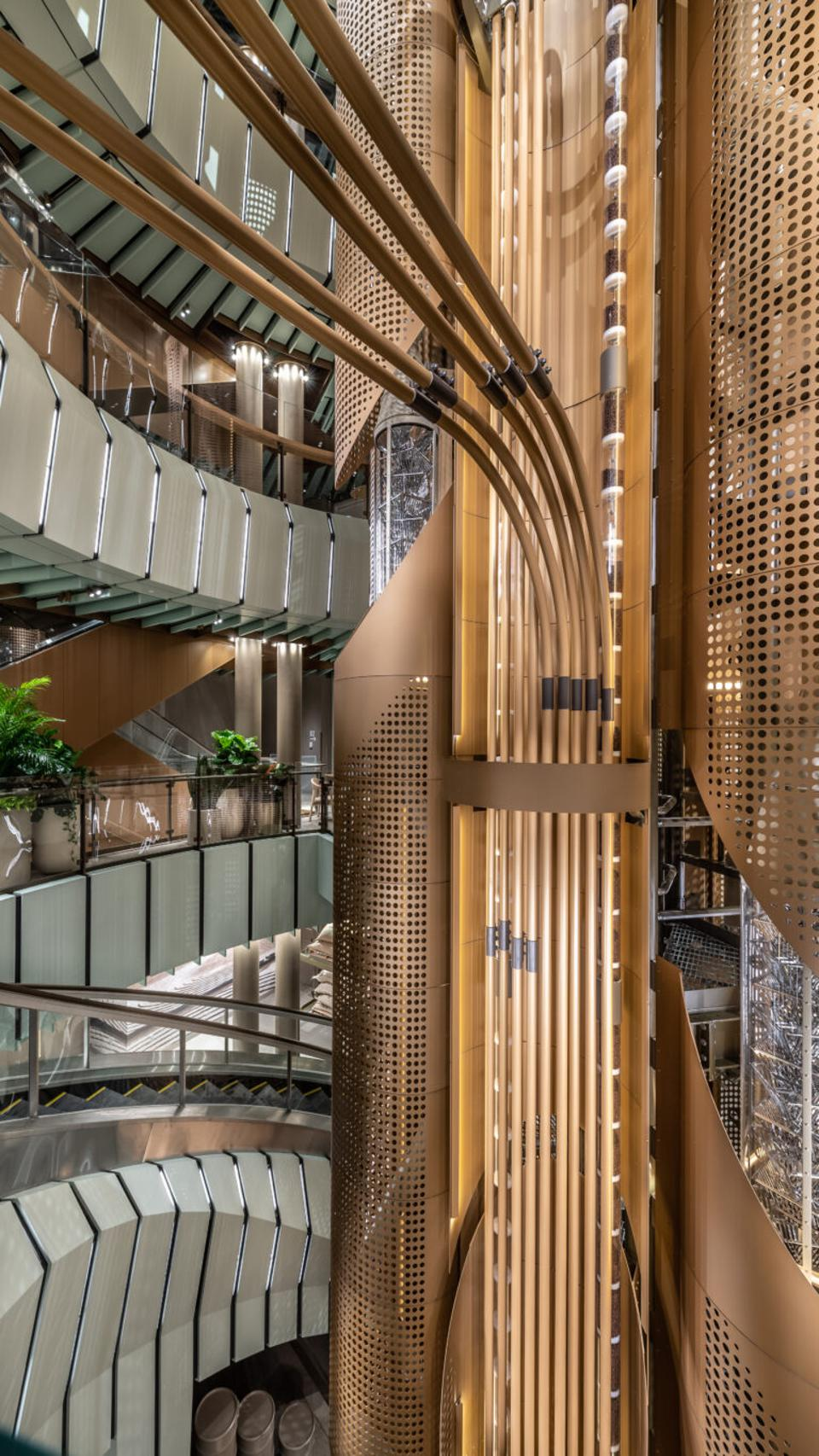 """""""We envisioned this five-story experience that would pull people from the ground floor all the way up and tell this really beautiful story about the growing of coffee...Before you know it, you walked five floors and you've gotten this really amazing journey, ever upwards."""" - Jill Enomoto"""