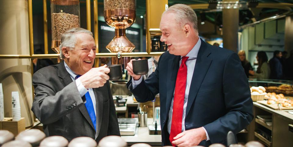 Gordon Segal and Kevin Johnson, Starbucks CEO