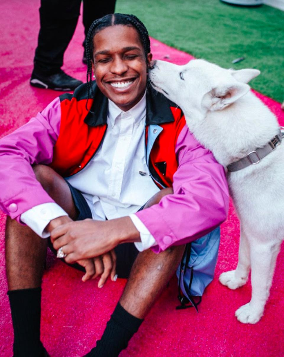 A$AP Rocky taking a tour of the Summit 19 Los Angeles campus in downtown Los Angeles on November 9, 2019.