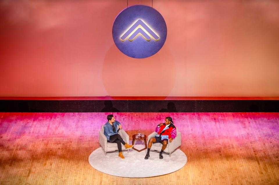 Summit Co-Founder Jeff Rosenthal and A$AP Rocky in conversation at the historic Orpheum Theatre in Los Angeles.