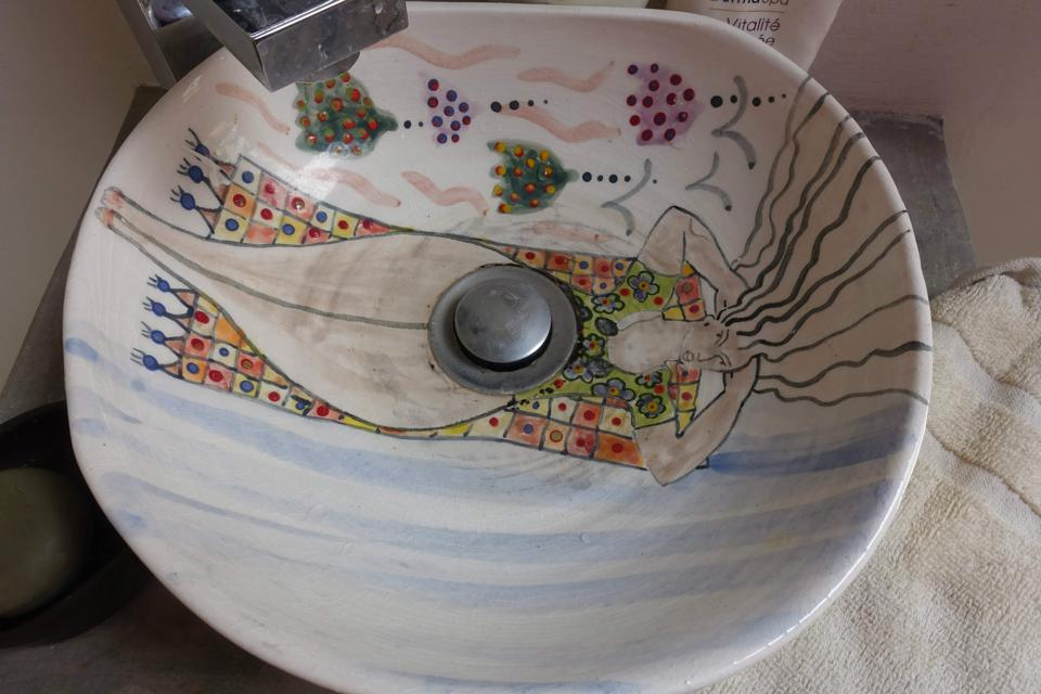 Janine's ceramic sink