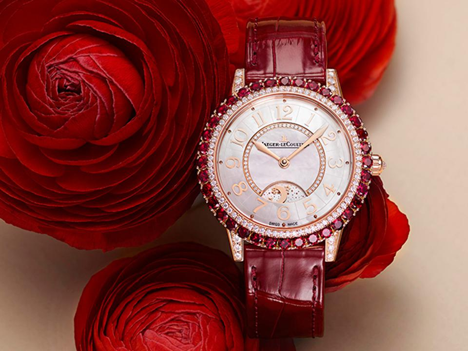 The Jaeger-LeCoultre Dazzling Rendez-Vous Red.