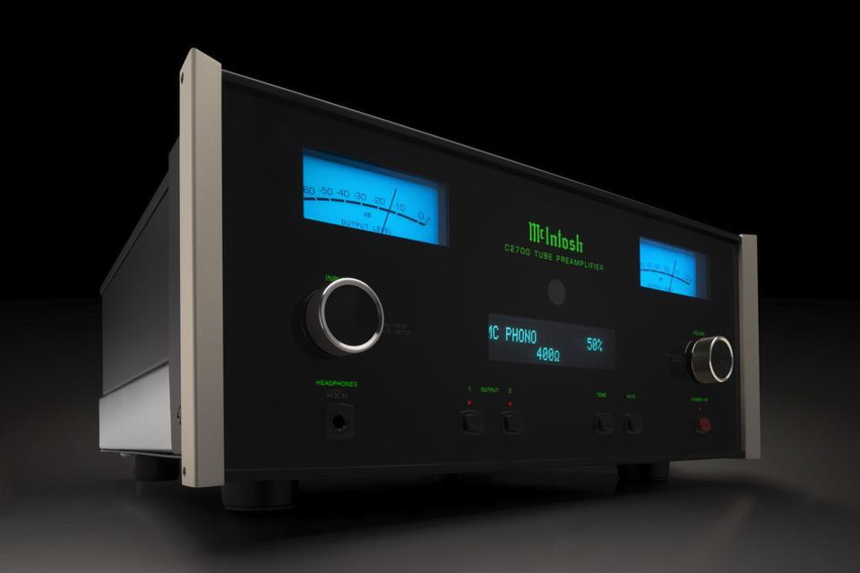 Front view of McIntosh C2700 preamplifier