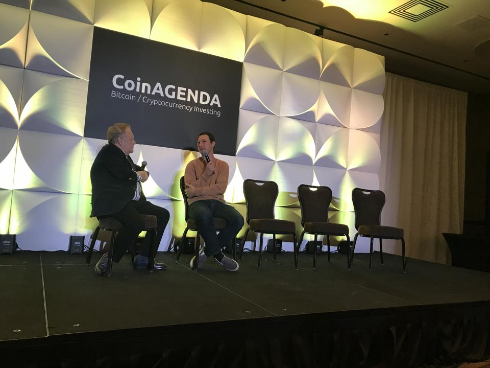 Jed McCaleb and Michael Terpin discuss Stellar at CoinAgenda.