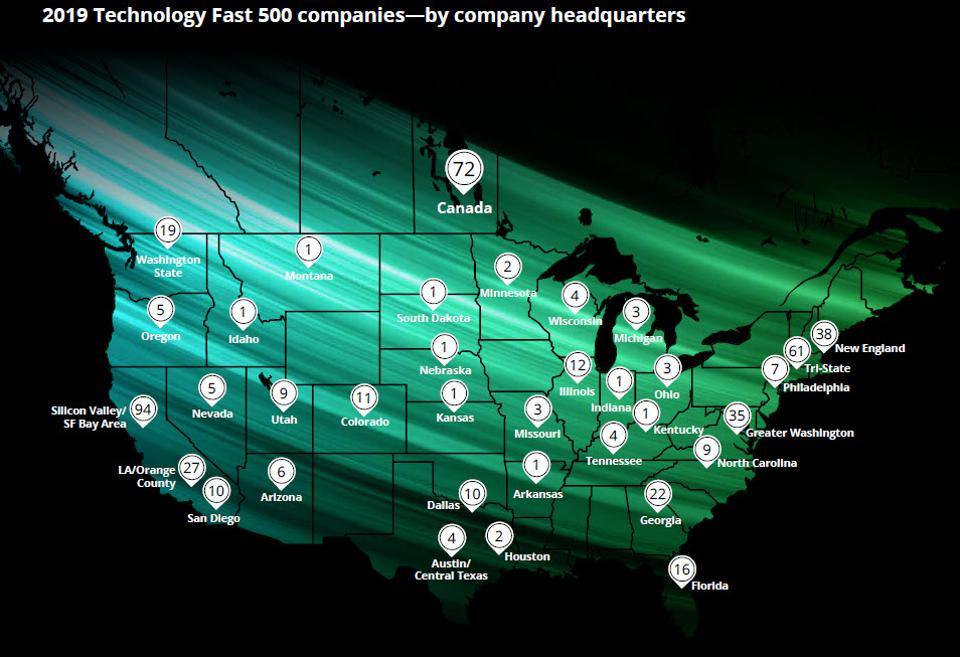 Deloitte's North America Technology Fast 500