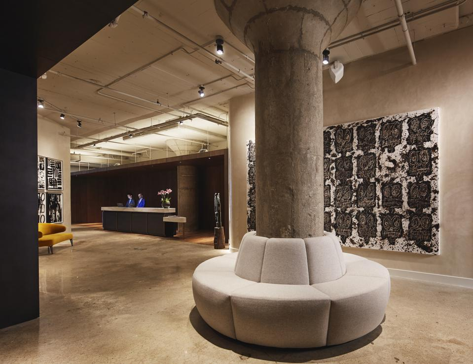 The Fitler Club reception and lobby