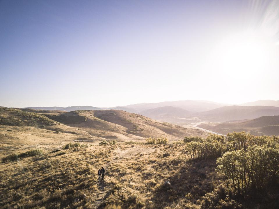 Scenic valley landscape