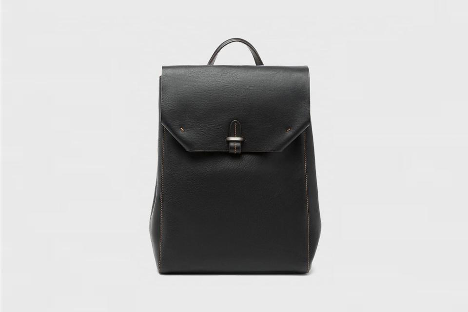 Textured Bridle Leather Backpack from Paul Stuart