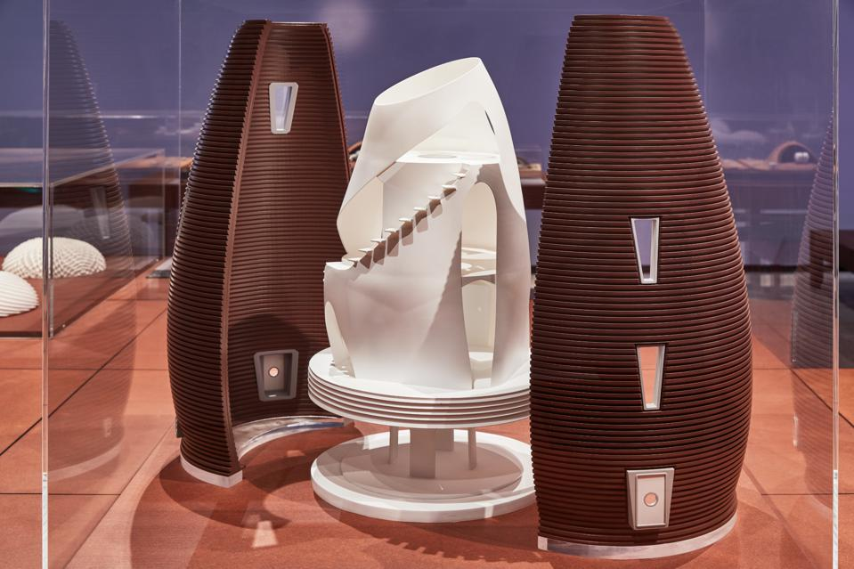MARSHA Habitat by AI Spacefactory, Moving to Mars exhibition at the Design Museum. Image credit: Ed Reeve