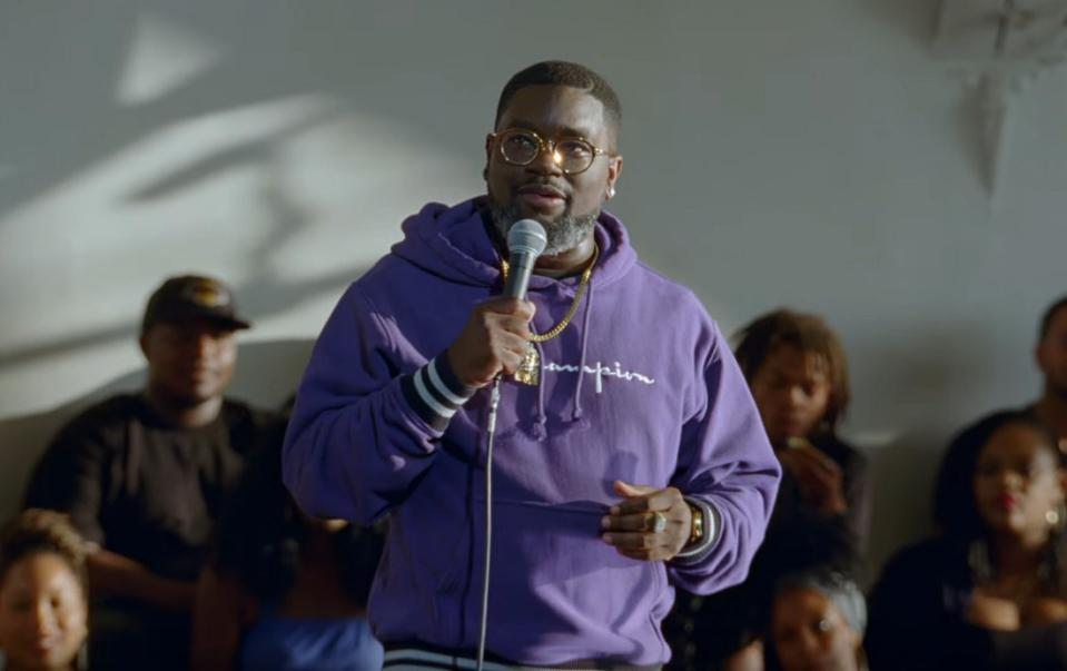 Lil Rel Howery performs in 'Live In Crenshaw' on HBO.