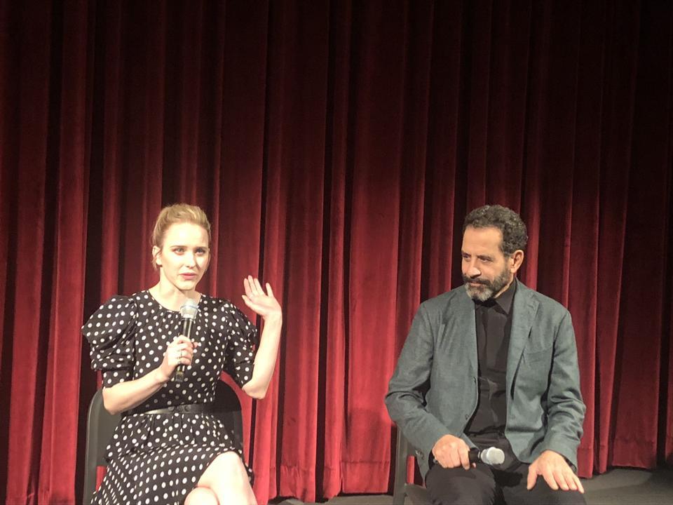 Rachel Brosnahan and Tony Shalhoub the MoMA Celeste Bartos Theatre in New York City on Saturday, Nov. 16, 2019