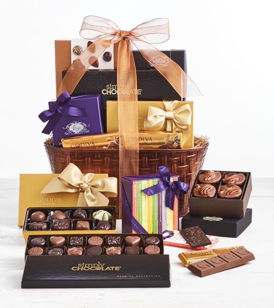 Simply Chocolate Exclusive Premier Brands Chocolates Gift Basket