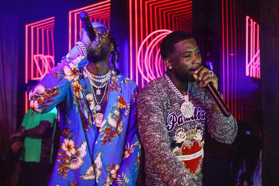 2 Chainz and Gucci Mane perform at last year's Rockwell x 1 OAK pop-up.