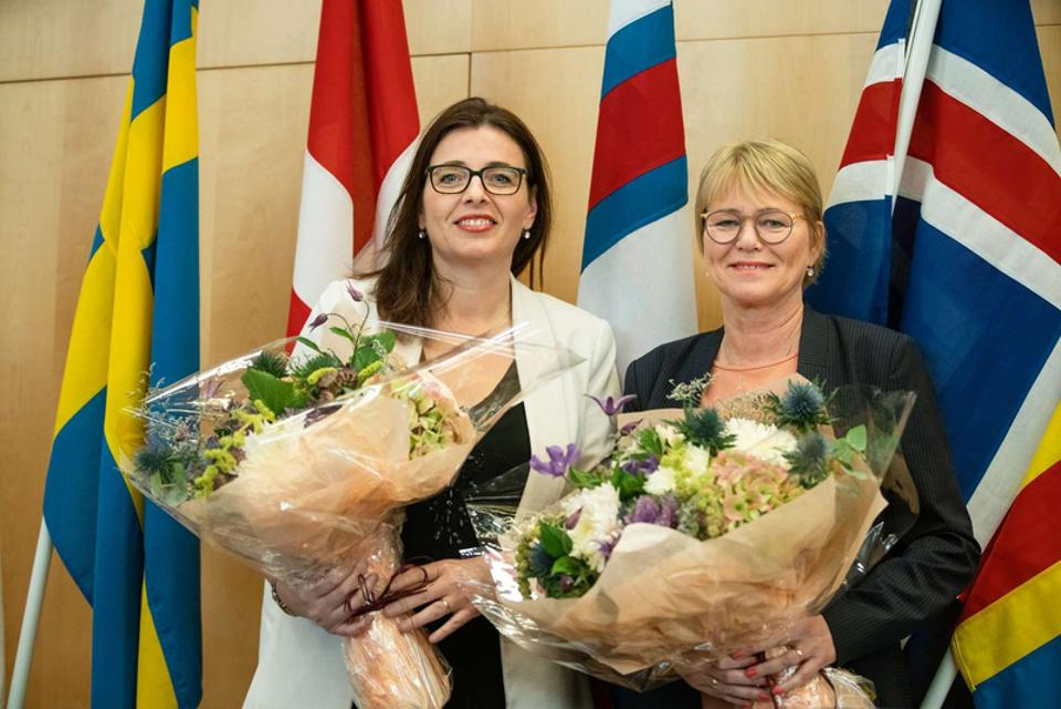 Nordic Council President and VP for 2020, Silja Dögg Gunnarsdóttir and Oddný Harðardóttir