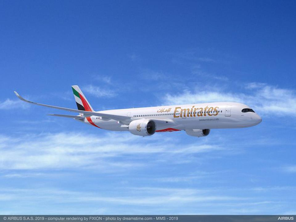 Emirates Airbus A350-900, image by Airbus