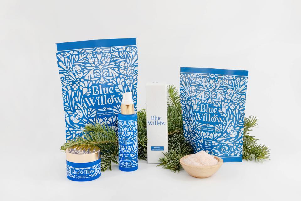 Blue Willow, Harmony Bowman, CBD skincare, cannabis gift guide, luxury cannabis, CBD