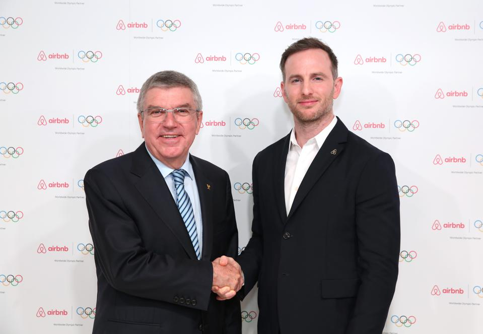 Airbnb has signed a sponsorship deal with the IOC.