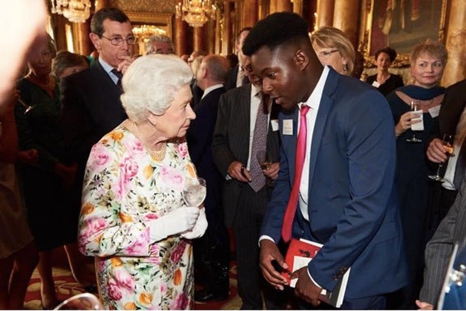 Bejay Mulenga meeting the Queen
