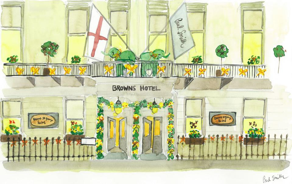 Brown's Hotel x Paul Smith