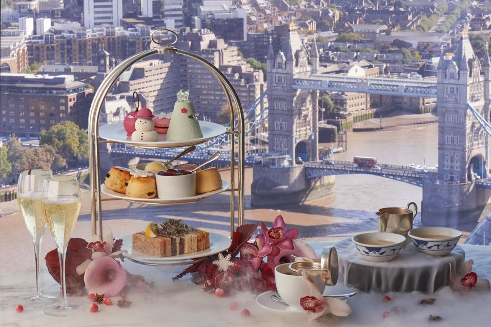 Christmas afternoon tea at Shangri-La Hotel, At The Shard, London