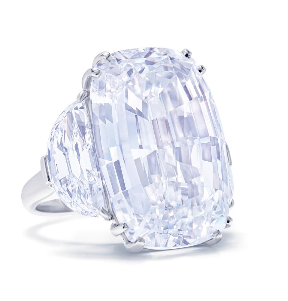 46.93-carat D color, internally flawless diamond