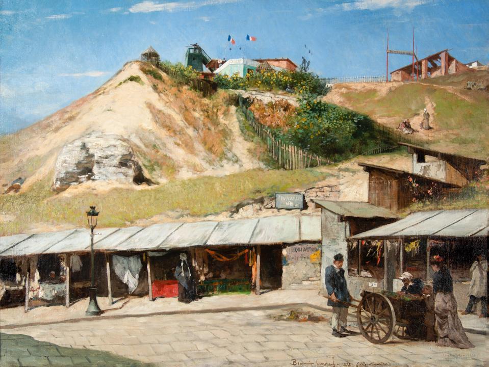 Jean-Joseph Benjamin-Constant, French, 1845–1902, La Butte Montmartre en 1878, 1878. Oil on canvas.