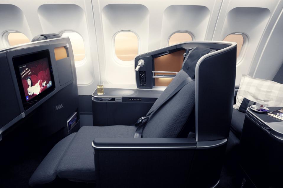 SAS Business Class seat.