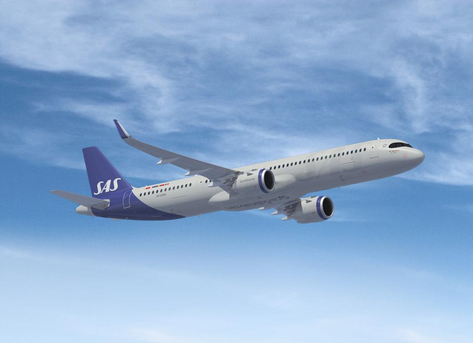 SAS Airlines Airbus A321LR.
