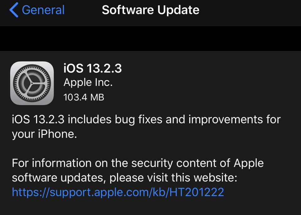 Apple Releases iOS 13.2.3: Another Unexpected Update With Vital Changes