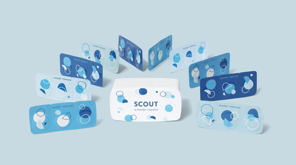 warby parker contact lense brand scout.