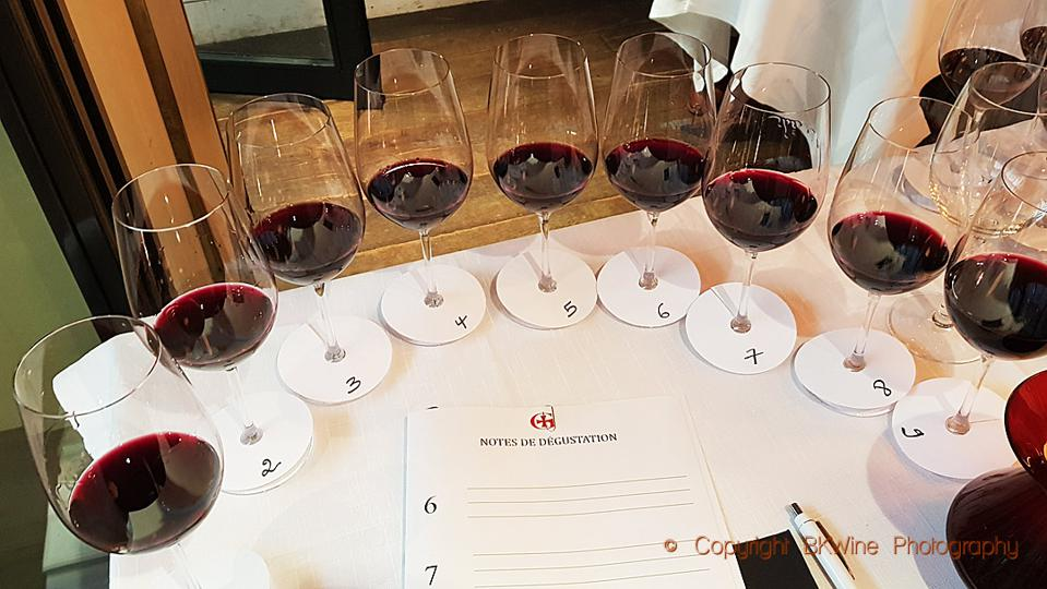Tasting wine aged nine different vessels from Domaine Gayda, copyright BKWine Photography