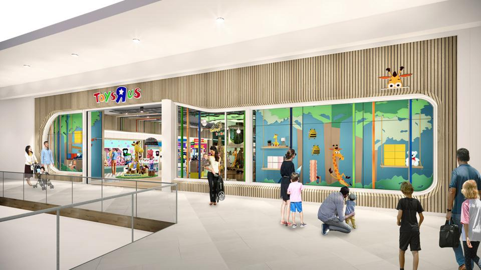 Artist rendering of the soon to be opened Toys R Us Stores