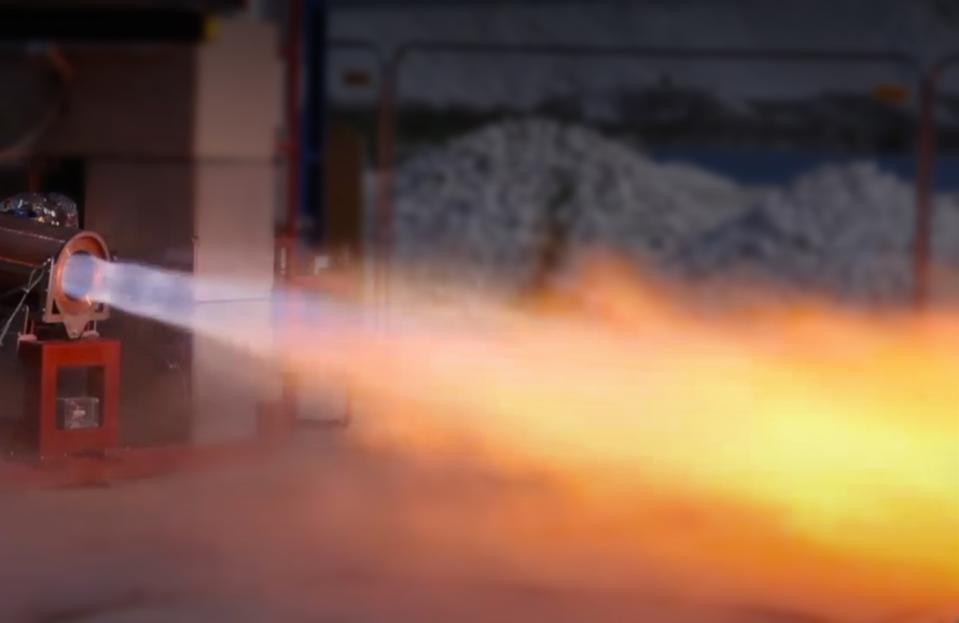 Orbex rocket engine test