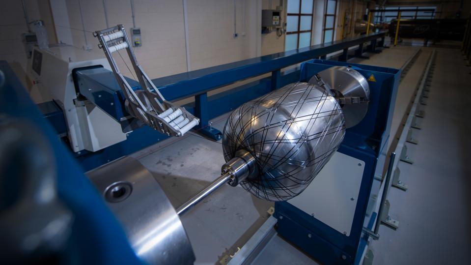 Carbon fibre winding machine