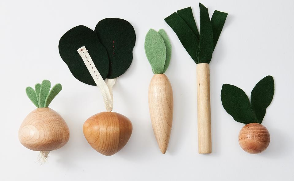 Milton & Goose Veggies Play Food Set