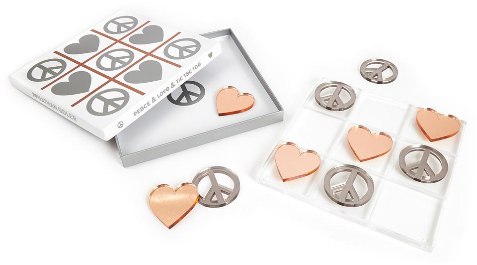 Jonathan Adler Metallic Tic Tac Toe Set
