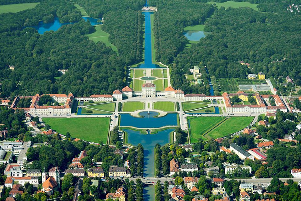 TheMostAnticipatedHotelOpeningsOf2020-TheLanghamMunich-AerialViewOfNymphenburg-CreditTheLanghamMunich