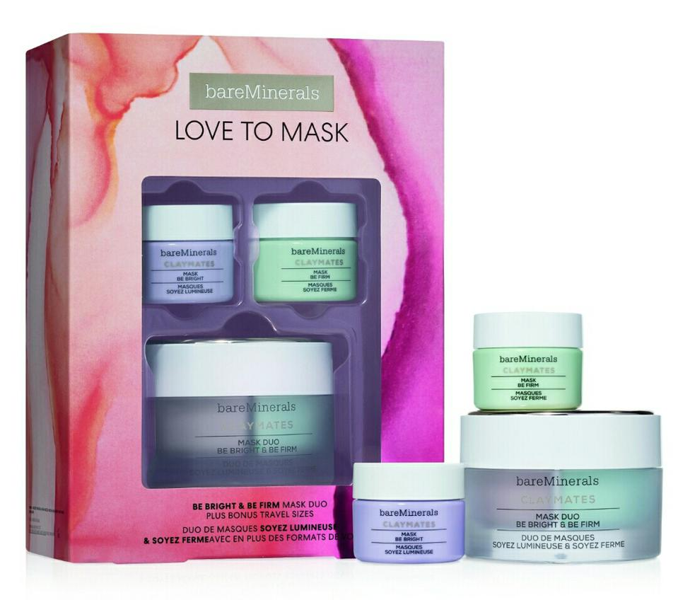 bareMinerals' Love To Mask: Be Bright & Be Firm Claymates Mask Set