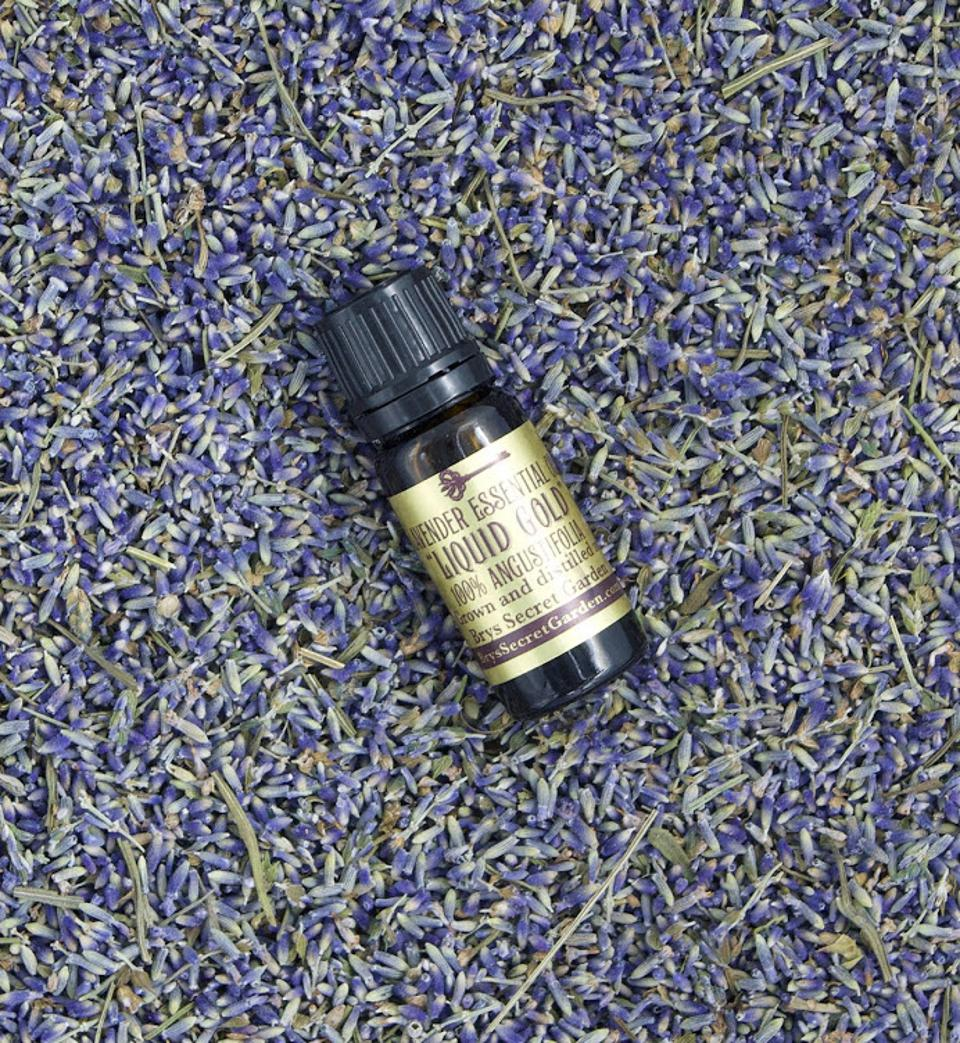 This is one of three different essential oils distilled at the Secret Garden.