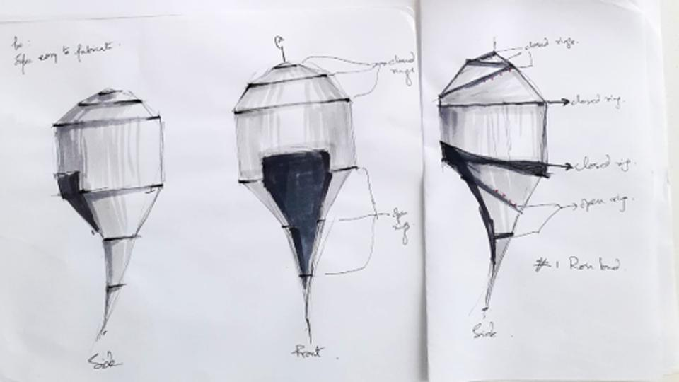 Sketches of the AstroPod concept, by Tamalee Basu.