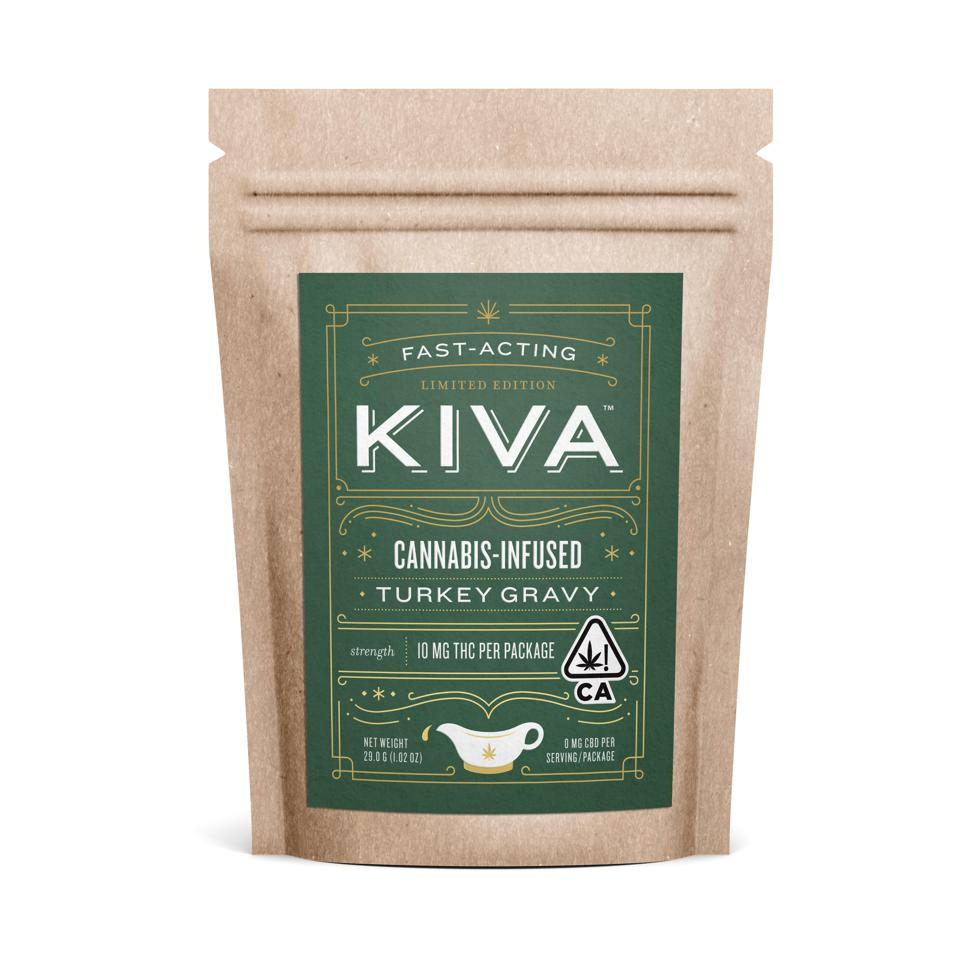 Kiva Confections, cannabis edibles, danksgiving, cannabis-infused turkey gravy