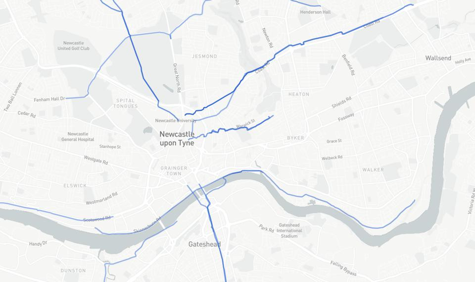 Strava Metro Newcastle